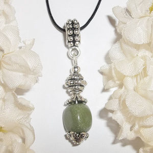 Necklace Olive Green Adjustable Length NWT 4806